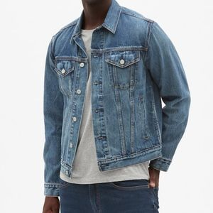 Gap Icon denim jean jacket men's size XL